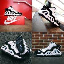 Nike AIR MORE UPTEMPO Faux Fur Blended Fabrics Street Style Sneakers