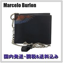 Marcelo Burlon Chain Other Animal Patterns Folding Wallets