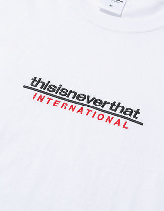 thisisneverthat Crew Neck Crew Neck Unisex Street Style Plain Cotton Short Sleeves 19