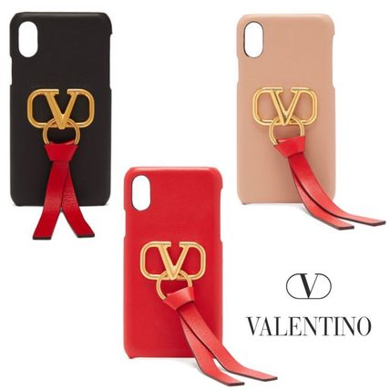 VALENTINO Smart Phone Cases Leather Smart Phone Cases