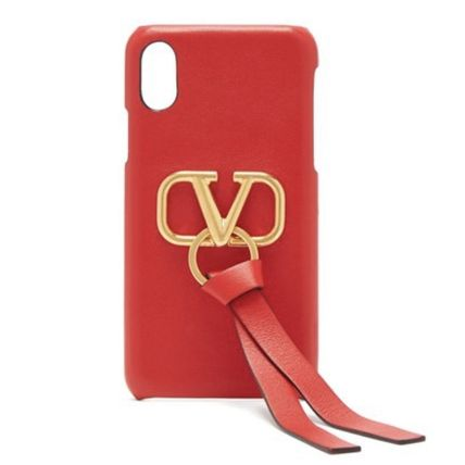 VALENTINO Smart Phone Cases Leather Smart Phone Cases 4