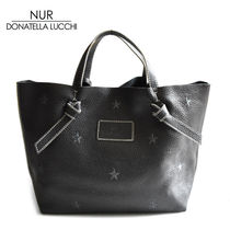 NUR BY DONATELLA LUCCHI Star A4 Leather Totes