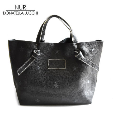 Star A4 Leather Totes