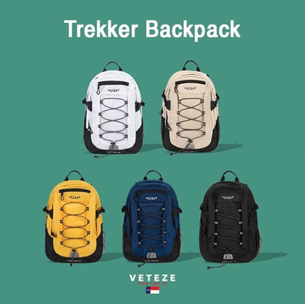 Unisex Nylon A4 Plain Backpacks