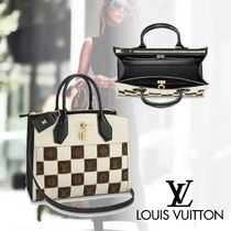 Louis Vuitton CITY STEAMER Monogram Canvas 2WAY Totes