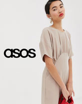 ASOS Dungarees Plain Short Sleeves Party Style Dresses