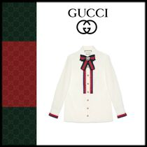 GUCCI Long Sleeves Cotton Shirts & Blouses