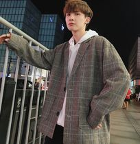 Other Check Patterns Street Style Oversized Blazers Jackets