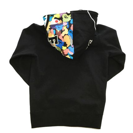 A BATHING APE Hoodies Stripes Unisex Street Style Collaboration Long Sleeves 2