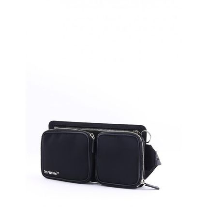 49a9d264b Off-White 2018-19AW Plain Leather Hip Packs by ReallyFly - BUYMA