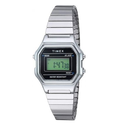Square Stainless Digital Watches