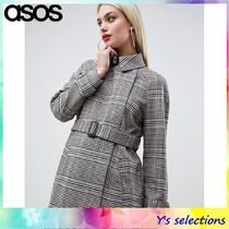 ASOS Other Check Patterns Trench Coats