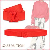 Louis Vuitton Unisex Blended Fabrics Plain Leather Belts
