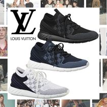 Louis Vuitton Other Check Patterns Blended Fabrics Plain Sneakers