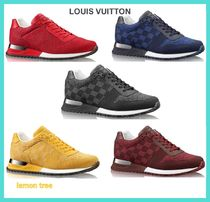 Louis Vuitton DAMIER Other Check Patterns Blended Fabrics Street Style Sneakers