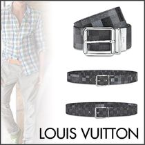 Louis Vuitton DAMIER GRAPHITE Other Check Patterns Unisex Blended Fabrics Bi-color