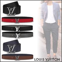 Louis Vuitton TAURILLON Unisex Blended Fabrics Bi-color Plain Leather Long Belt