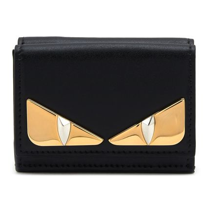 FENDI Folding Wallets Plain Leather Folding Wallets 2