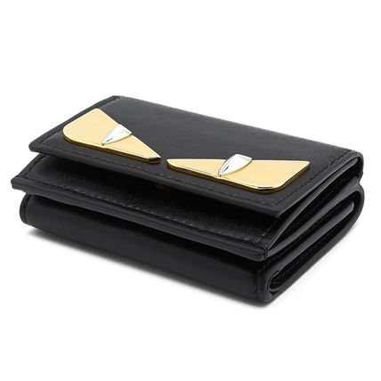 FENDI Folding Wallets Plain Leather Folding Wallets 4