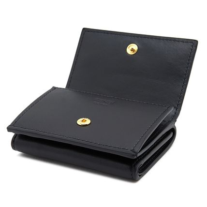 FENDI Folding Wallets Plain Leather Folding Wallets 5