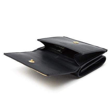 FENDI Folding Wallets Plain Leather Folding Wallets 6