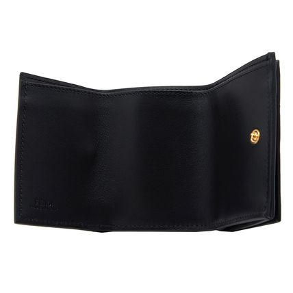 FENDI Folding Wallets Plain Leather Folding Wallets 7
