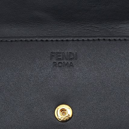 FENDI Folding Wallets Plain Leather Folding Wallets 10