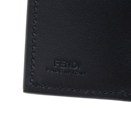 FENDI Folding Wallets Plain Leather Folding Wallets 11