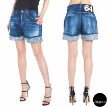D SQUARED2 Short Casual Style Denim Street Style Plain