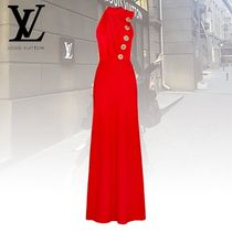 Louis Vuitton Sleeveless Plain Long Dresses