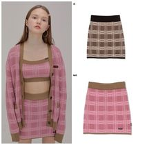 SCULPTOR Short Other Check Patterns Street Style Skirts