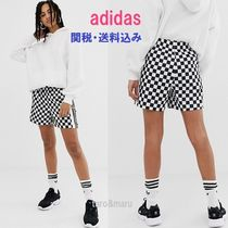 adidas Printed Pants Short Other Check Patterns Casual Style
