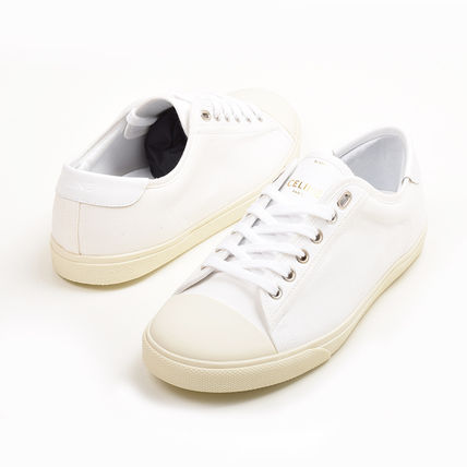 Rubber Sole Casual Style Plain Low-Top Sneakers