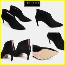 TED BAKER Suede Plain Elegant Style Ankle & Booties Boots