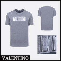 VALENTINO Street Style Plain Cotton Short Sleeves T-Shirts