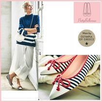 Pretty Ballerinas Stripes Ballet Shoes