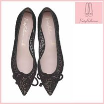 Pretty Ballerinas Leopard Patterns Ballet Shoes