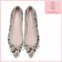 Pretty Ballerinas Leather Python Ballet Shoes