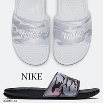 Nike Camouflage Open Toe Casual Style Shower Shoes Flat Sandals