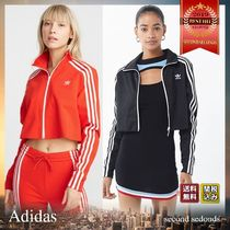 adidas Short Stripes Casual Style Street Style Jackets