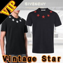 GIVENCHY Star Unisex Cotton Short Sleeves T-Shirts