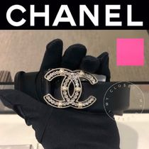 CHANEL ICON Suede Street Style Plain Handmade With Jewels Elegant Style