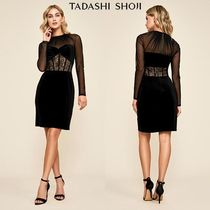 TADASHI SHOJI Tight Long Sleeves Medium Lace Dresses