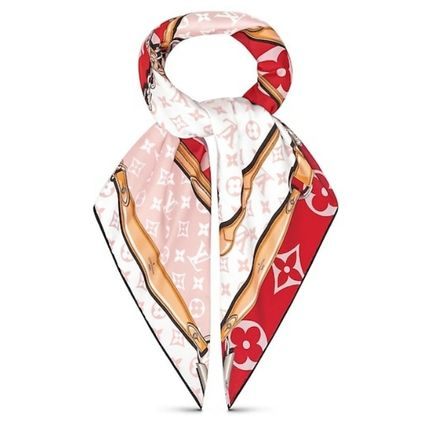 fb37f56097448 ... Louis Vuitton Lightweight Monogram Unisex Silk Chain Lightweight Scarves    Shawls ...