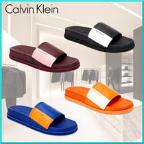 Calvin Klein Unisex Street Style Plain Shower Shoes Shower Sandals