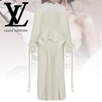 Louis Vuitton Blended Fabrics Plain Long Dresses