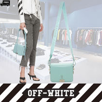 Off-White Casual Style 2WAY Plain Leather Handmade Shoulder Bags