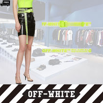 Off-White Casual Style Plain Handmade Belts