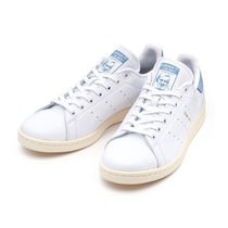 adidas STAN SMITH Unisex Plain Leather Low-Top Sneakers
