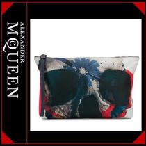 alexander mcqueen Skull Flower Patterns Nylon Clutches